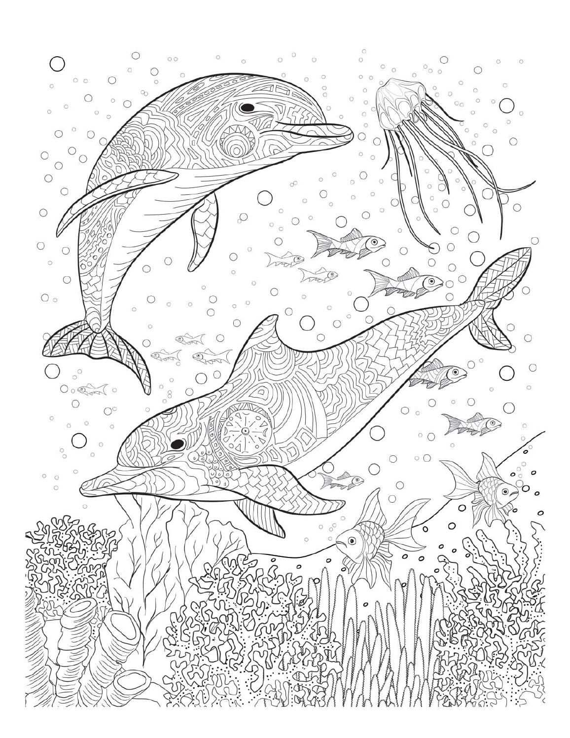 Oceana Animal Coloring Pages Dolphin Coloring Pages Ocean