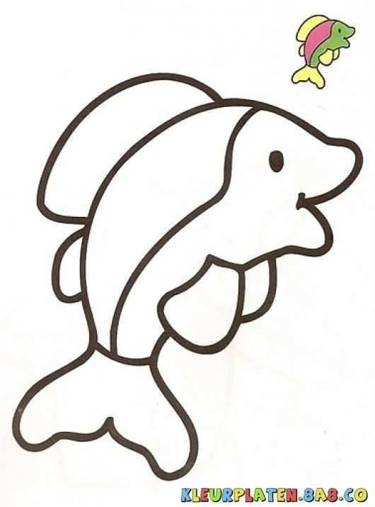 Kleurplaat Dolfijn Met Afbeeldingen Kleurplaten Dolfijnen Dieren