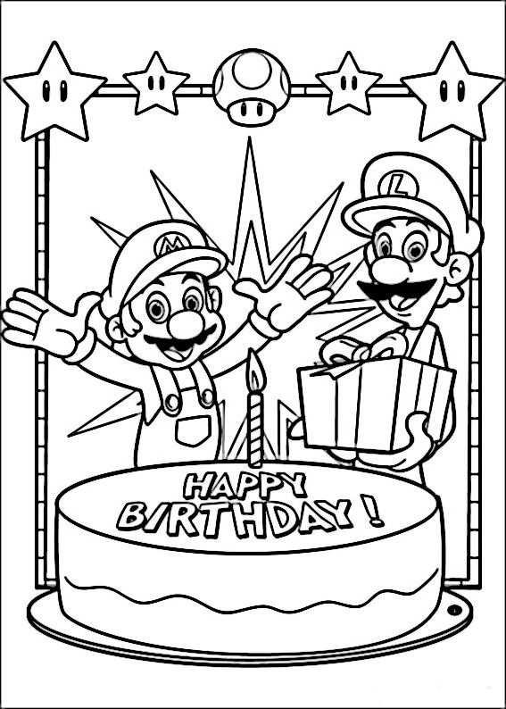 Mario Bross Kleurplaten 15 Mario Verjaardagsfeestje Kleurplaten