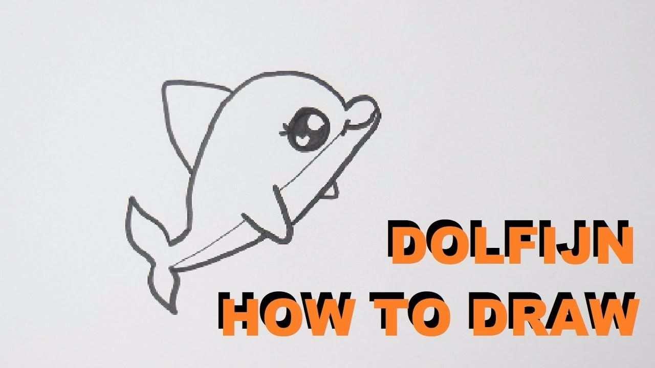 Hoe Teken Je Een Dolfijn Tekenen Voor Beginners Youtube Met