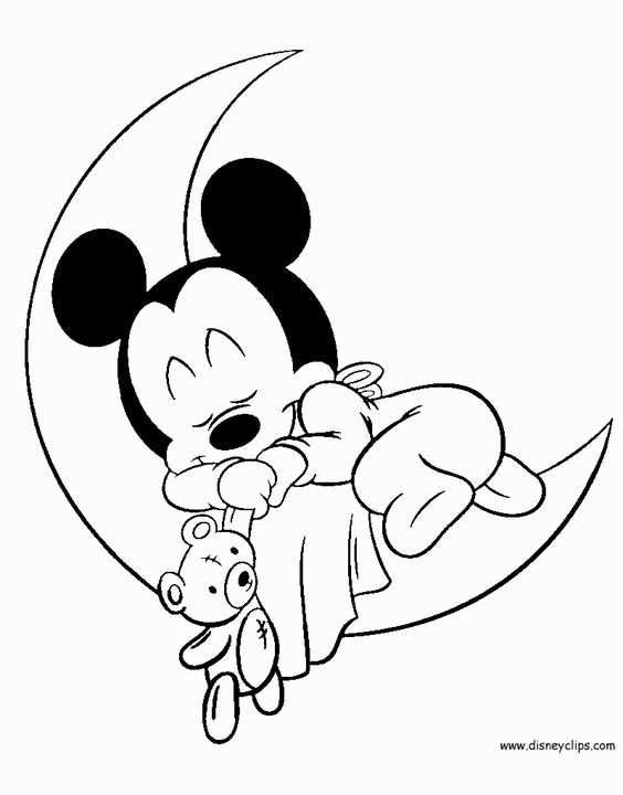 Disney Babies Coloring Pages In 2020 With Images Mickey Mouse