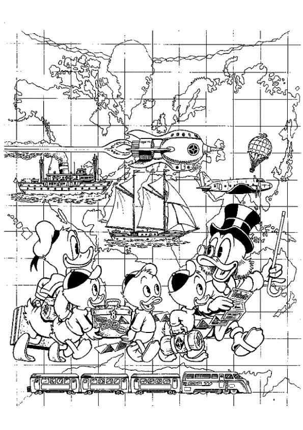 Print Dagobert Duck Kleurplaat Kleurplaten Disney Kleurplaten