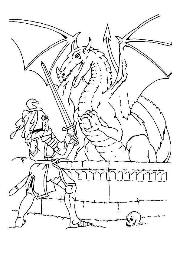 Kleurplaat Draak Ridders Kleurplaten Thema