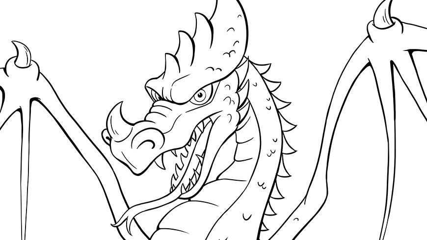 Kleurplaat Van Draak Efteling Kids How Train Your Dragon How