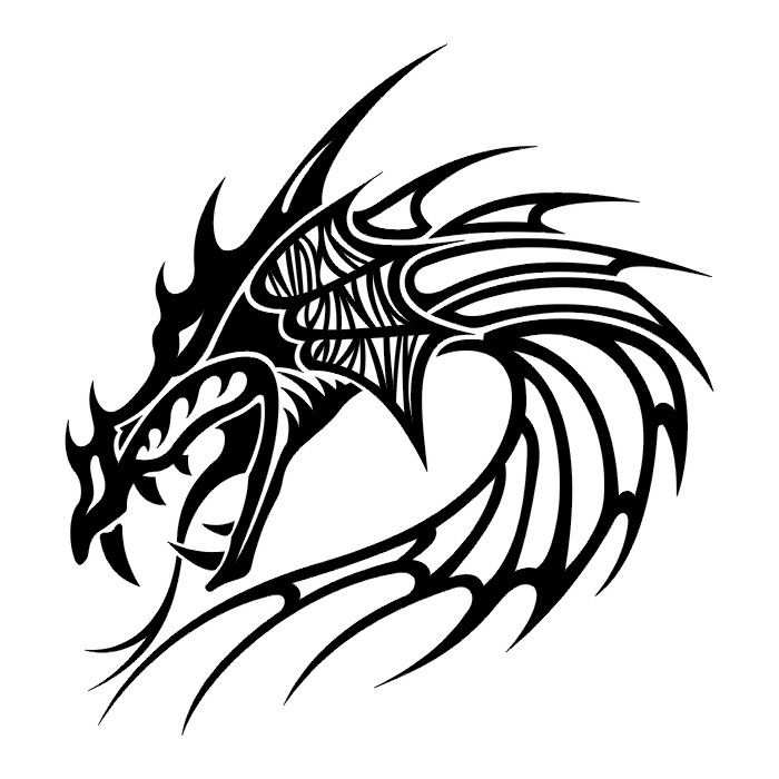 Tattoos Dragon Tattoo Stencils 2 Kleurplaten Bouwplaten