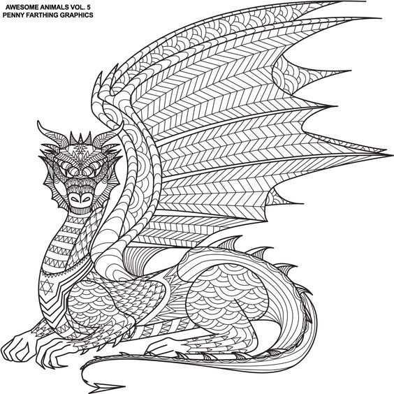 Pin Van Barbara Op Coloring Dino Dragon Mandala Kleurplaten