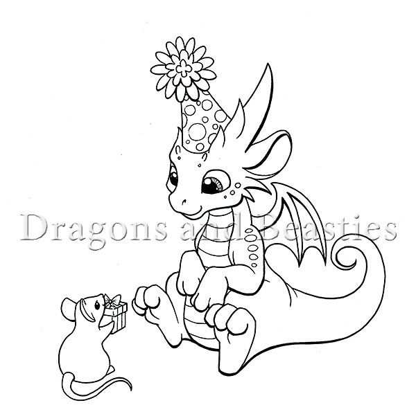 Inktober Party By Dragonsandbeasties Dragon Coloring Page