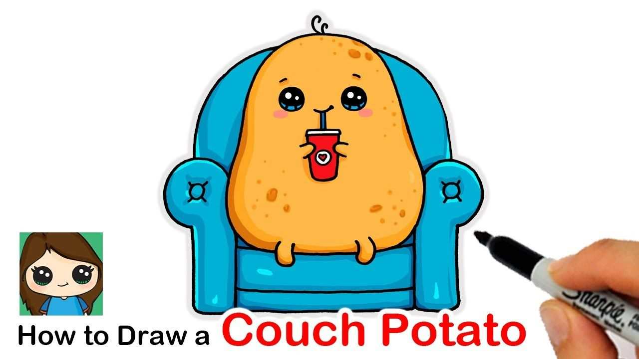 How To Draw A Couch Potato Youtube In 2020 Tekenen
