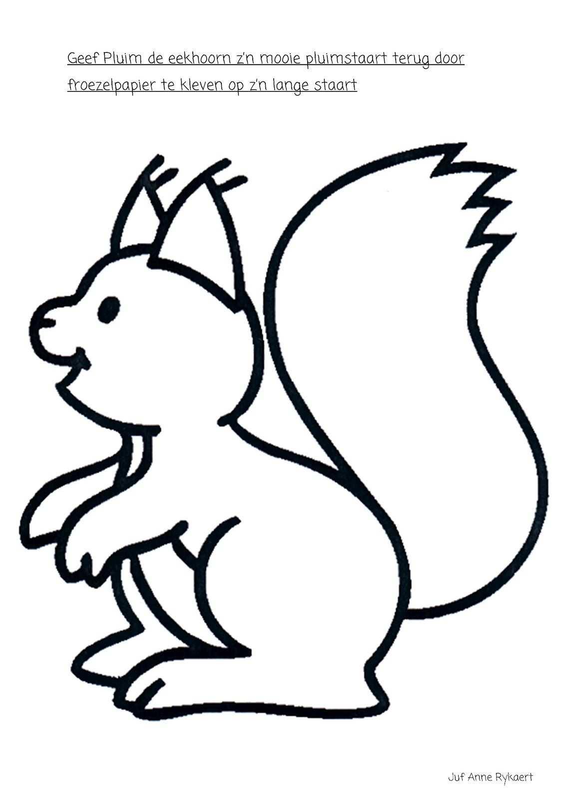 Een Pluimstaart Voor De Eekhoorn Kleurplaten Herfst Tekenen