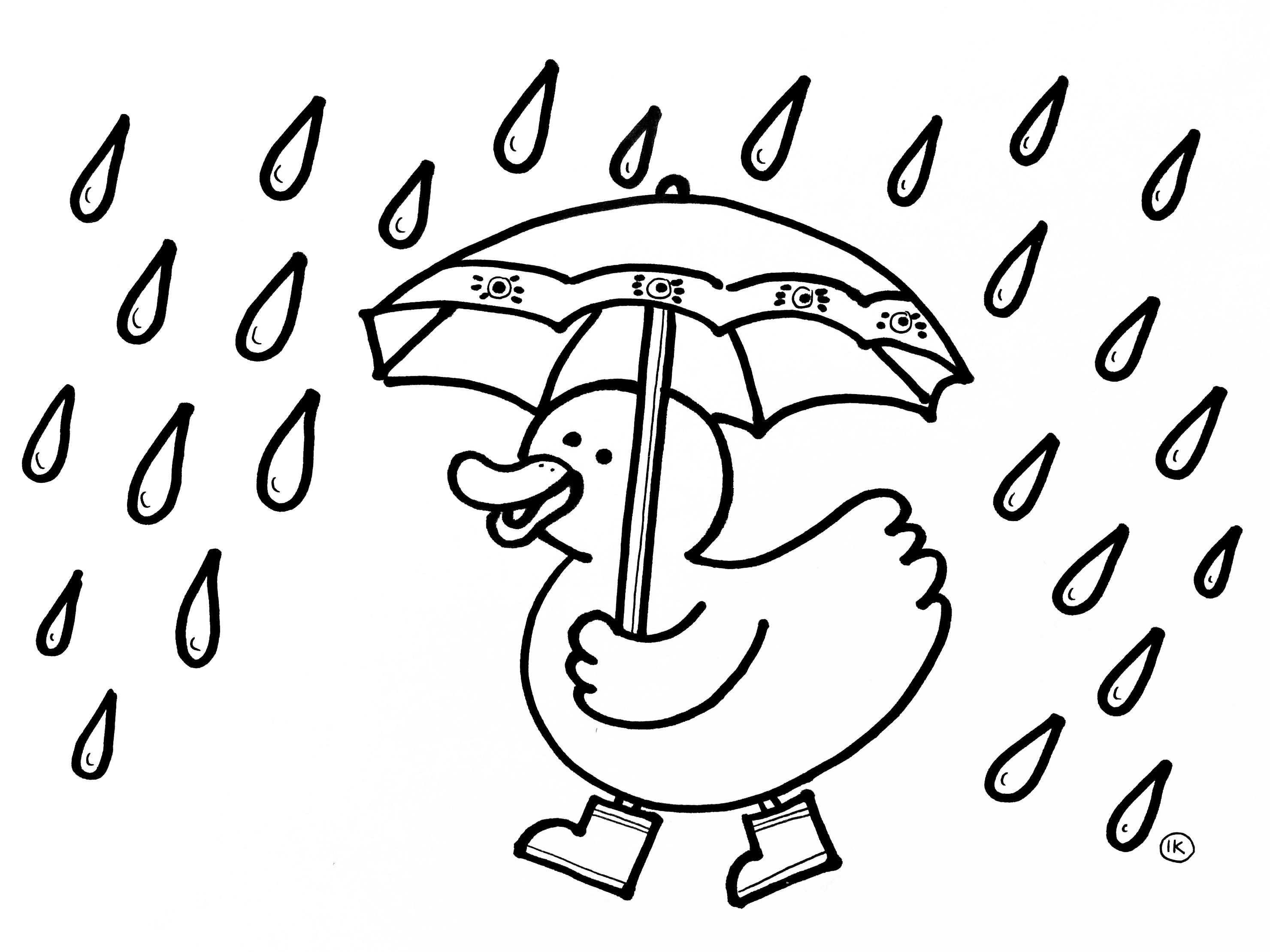 Kleurplaten Met Thema Regen Kleurplaten Thema Regen