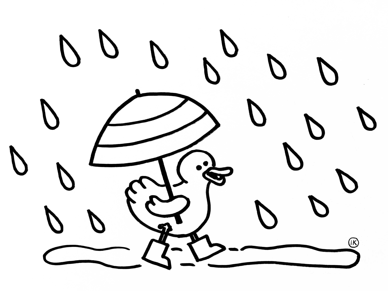 Kleurplaten Met Thema Regen Regen Kleurplaten Thema