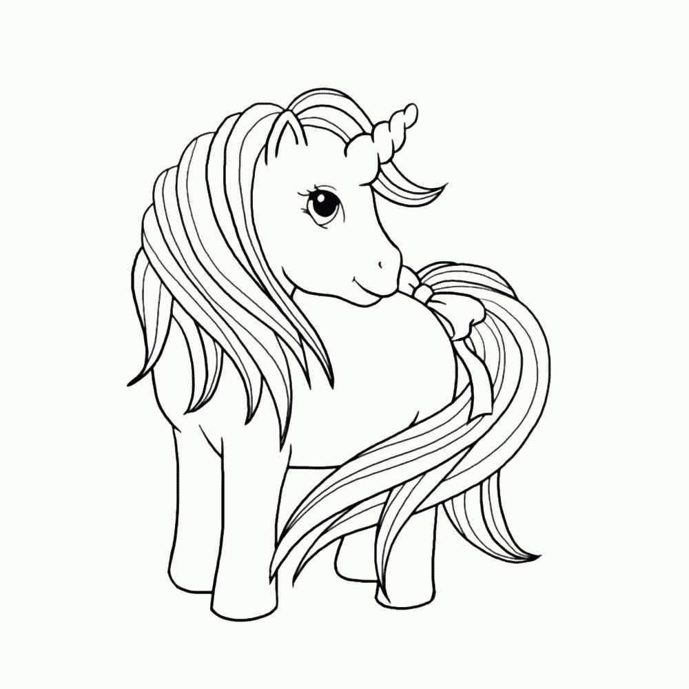 Unicorn Paard Kleurplaat Met Afbeeldingen Dieren Kleurplaten
