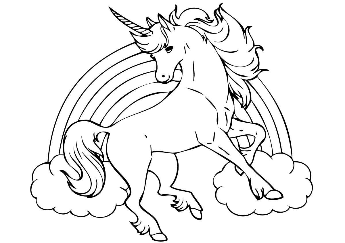 Cute Unicorn Coloring Pages For Kids Kleurplaten Prints Knutselen