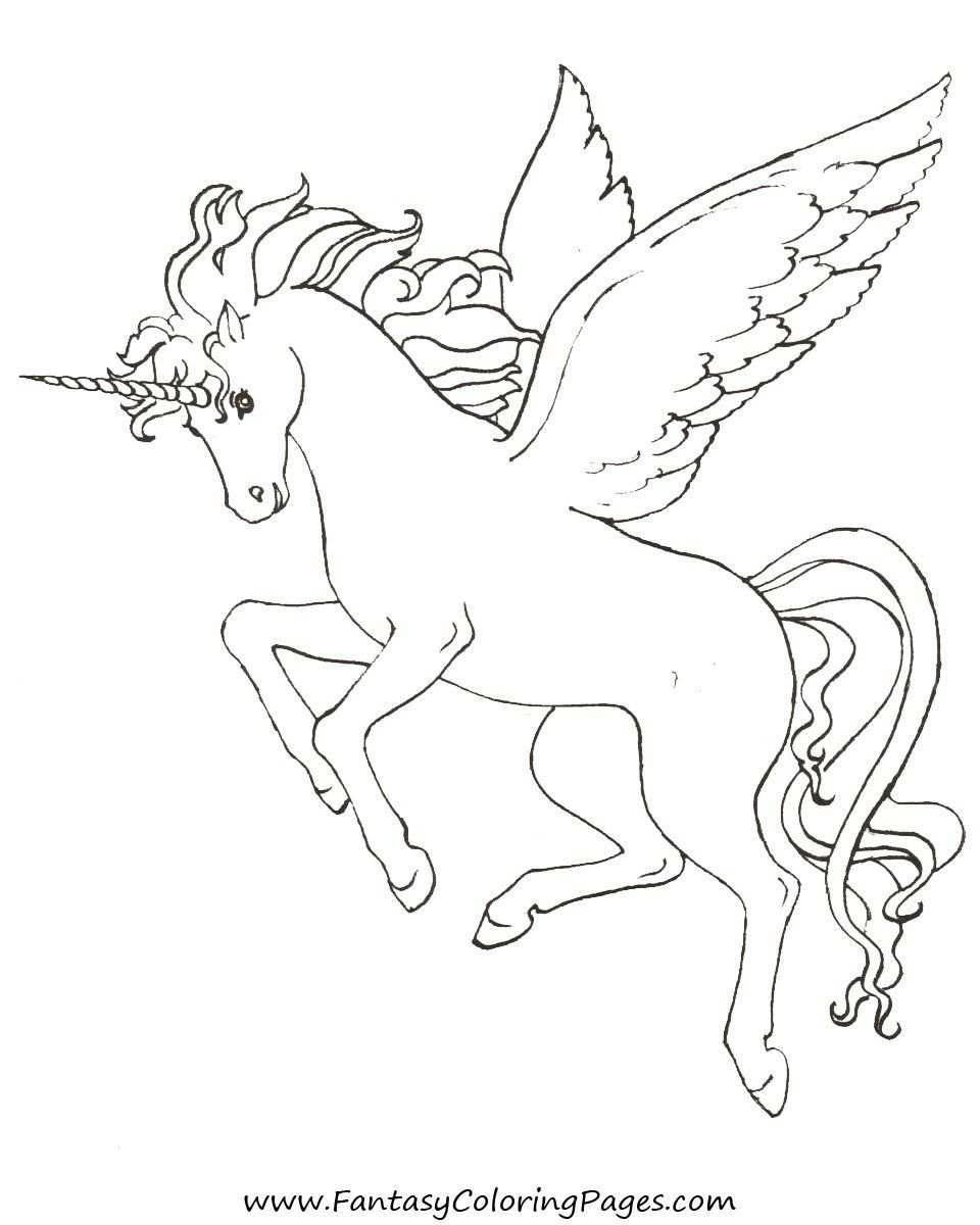 Pegasus Coloring Pages With Images Unicorn Coloring Pages