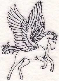 Pegasus Etching Design M7178 From Www Emblibrary Com Mythische