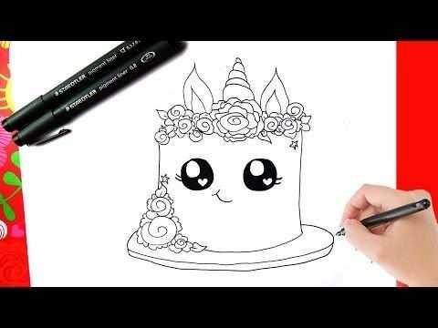 Hoe Teken Je Een Eenhoorn Taart Kawaii Leren Tekenen Youtube