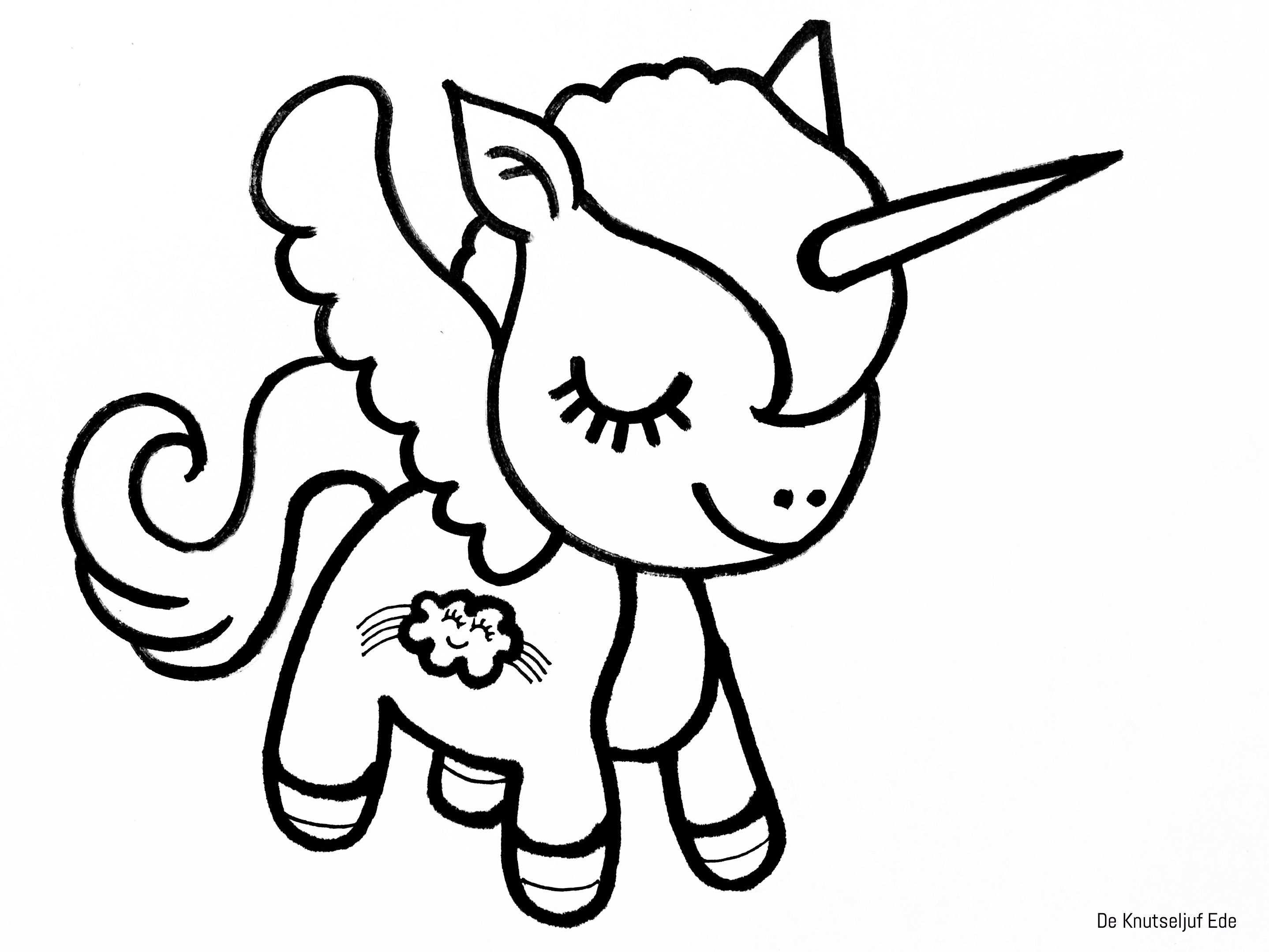 kleurplaat eenhoorn unicorn kleurplaat