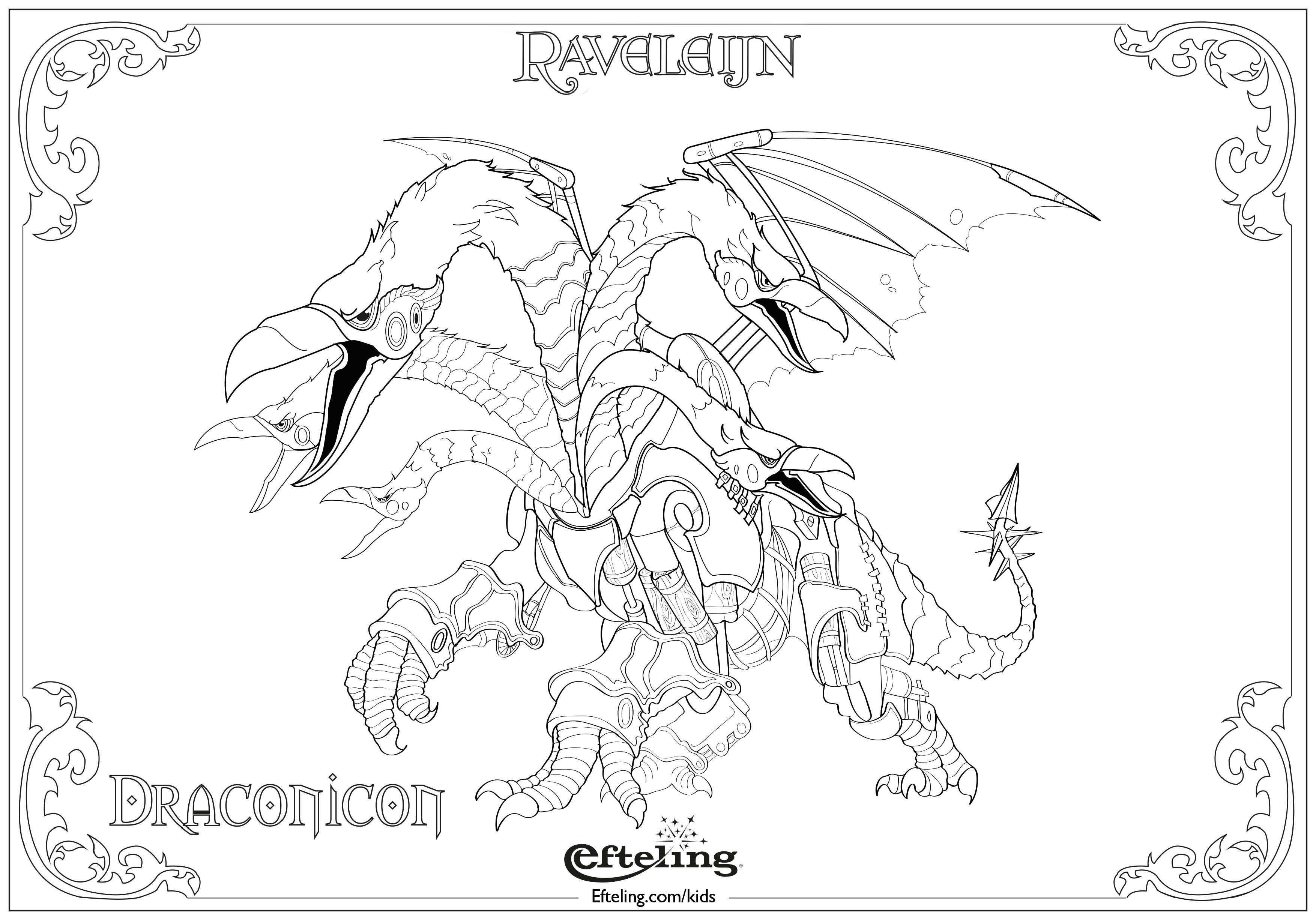 Draconicon Van Raveleijn Efteling Kleurplaat Met Afbeeldingen