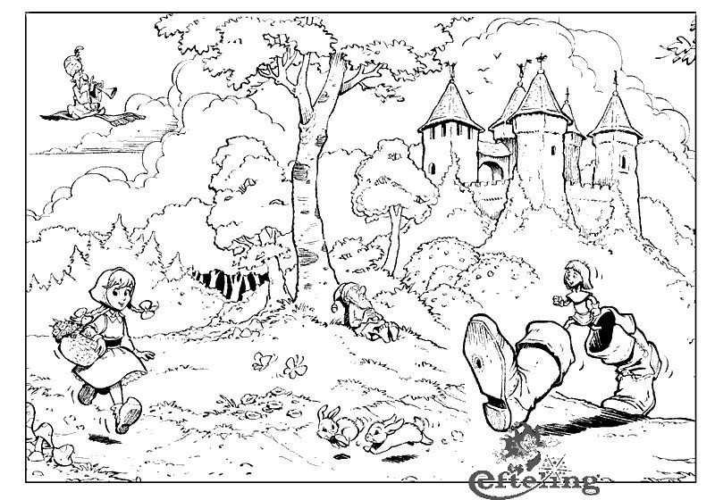 Efteling Fairytale Theme Park Coloring Page 1 Kleurplaten