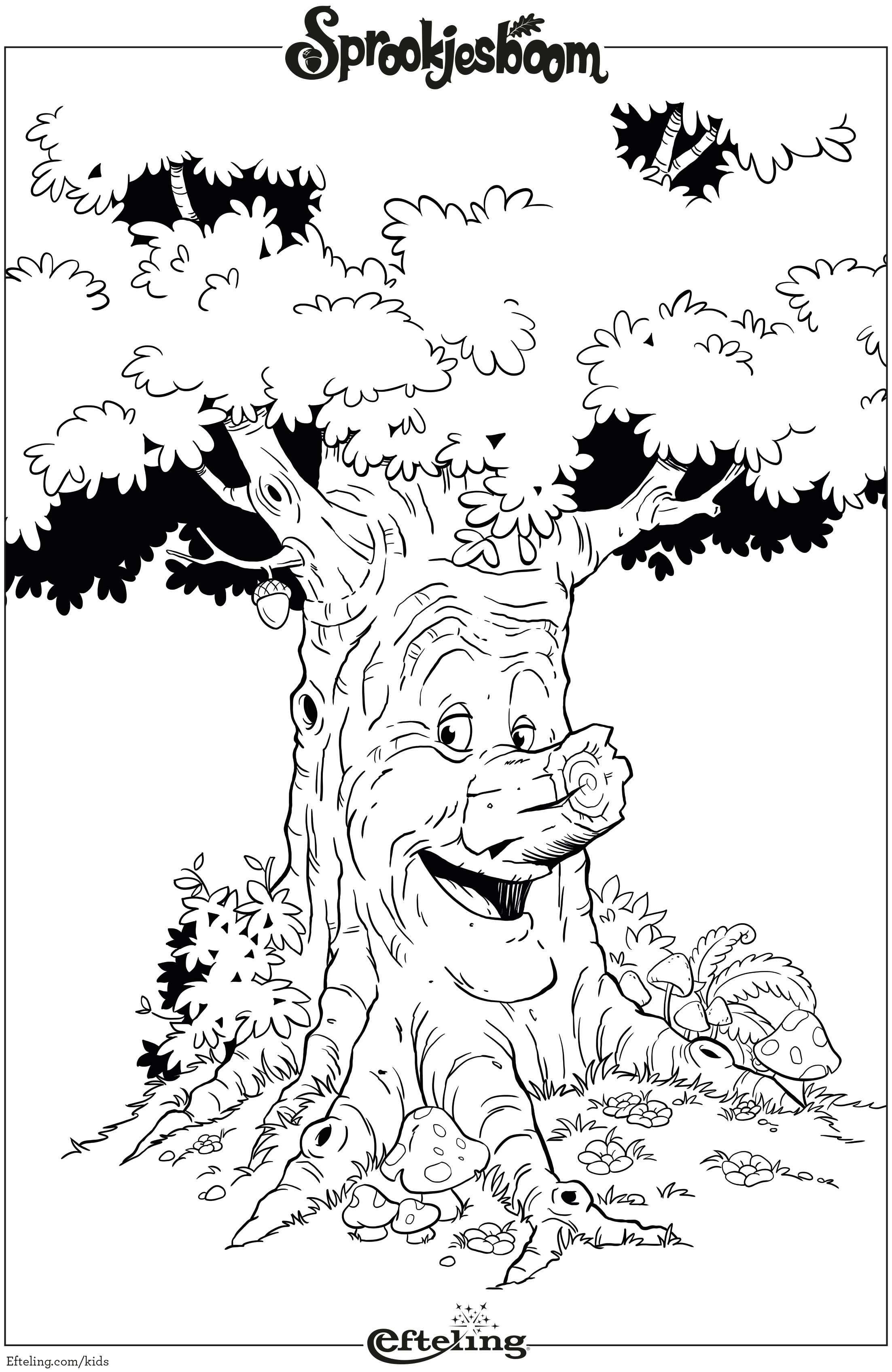 Sprookjesboom Efteling Kleurplaat Met Afbeeldingen