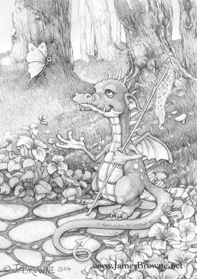 Eccles Is The Sort Of Dragon Who Hangs Out In The Park Waiting For