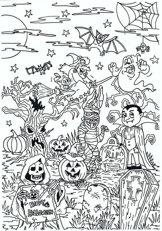 Nieuwste Kleurplaat Van Noagecolouringsuuz Halloween With