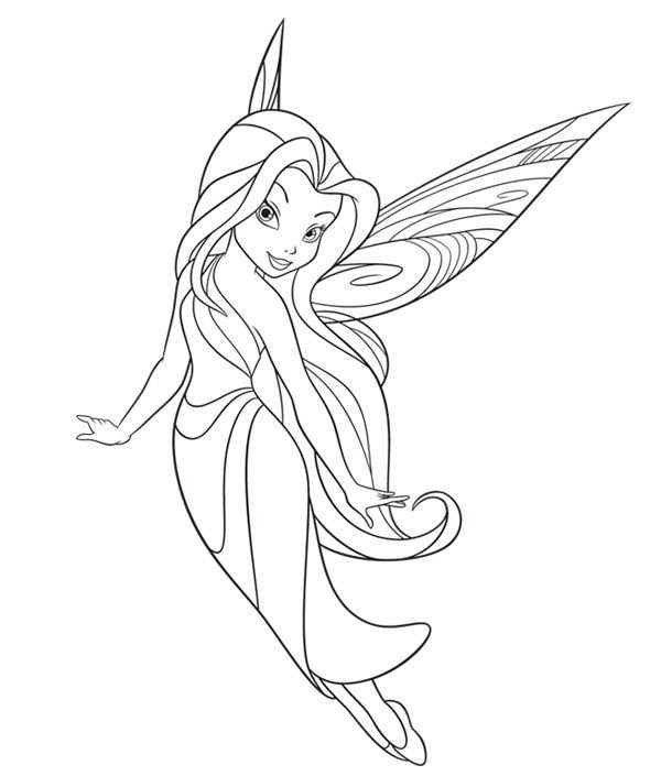 Kleurplaat Elfje Tinkerbell With Images Fairy Coloring Pages