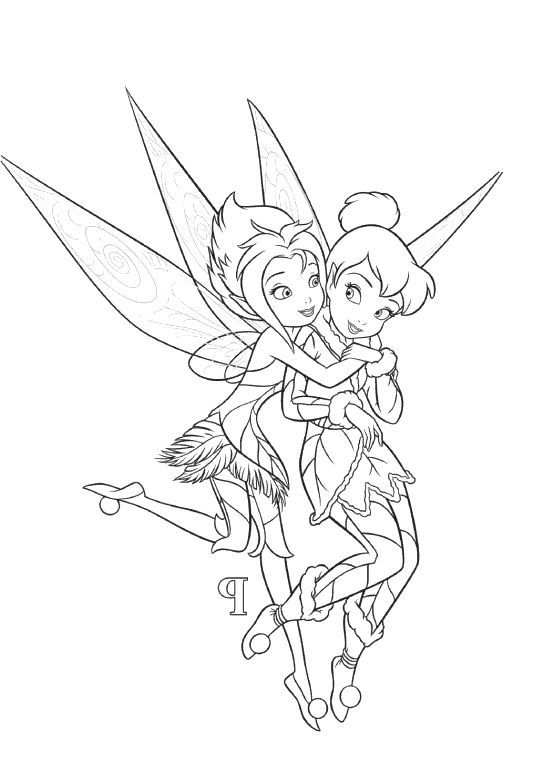 Tinkerbell And Periwinkle Coloring Pages Tinkerbell Coloring