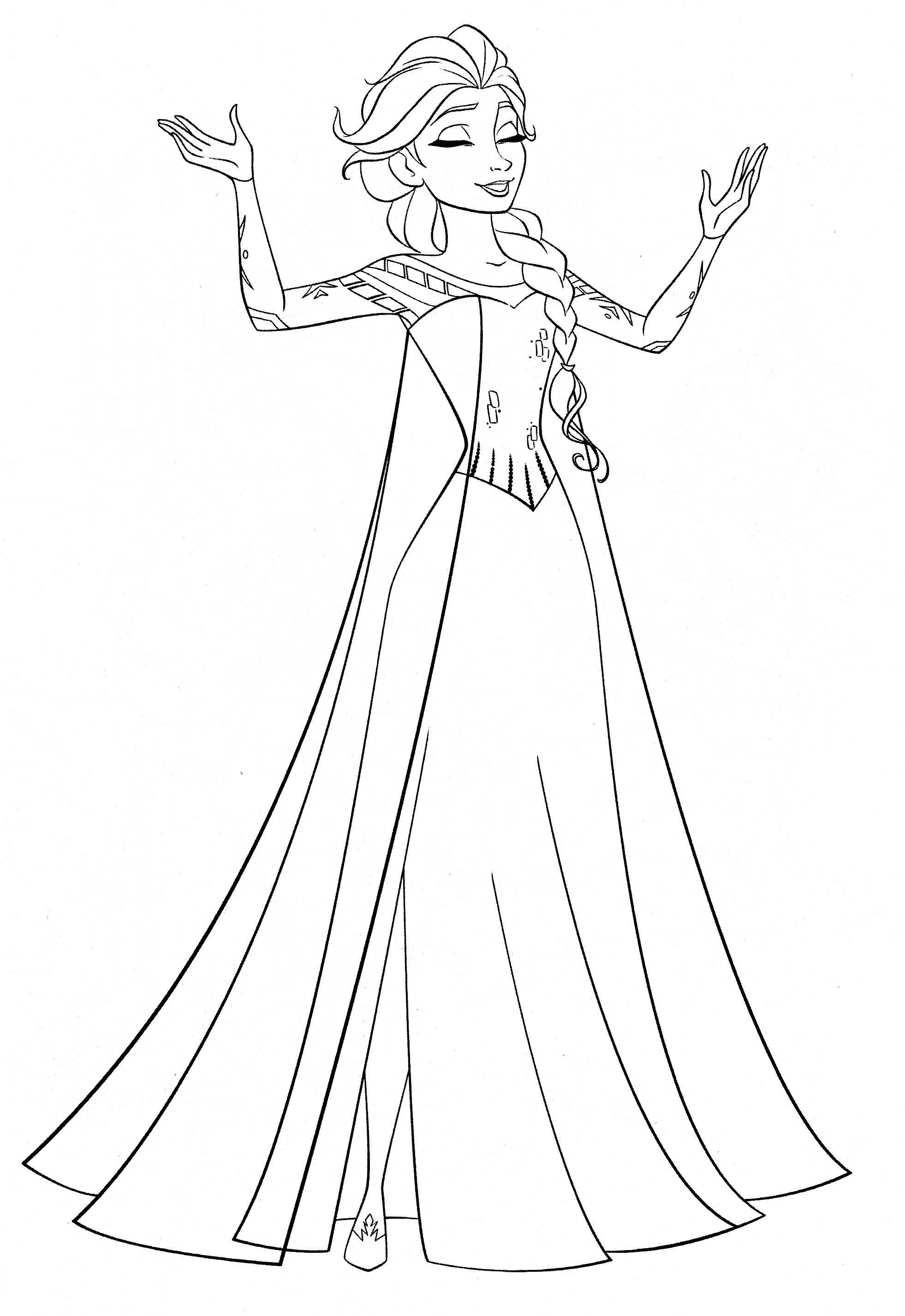 Elsa Coloring Pages To Print For Free Disney Frozen Coloring