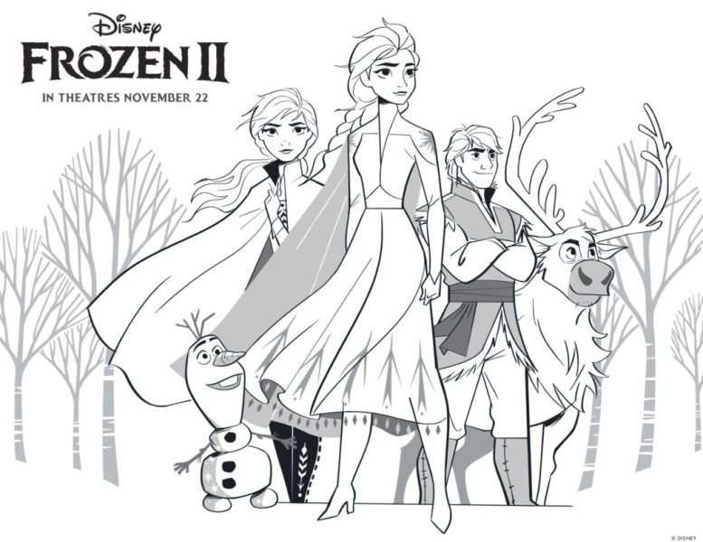 Free Frozen 2 Printable Coloring Pages And Activities In 2020