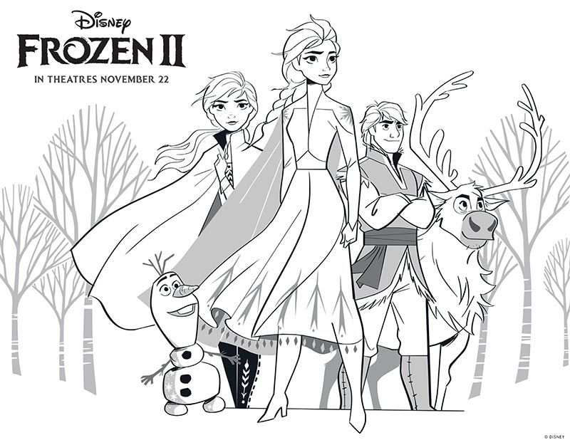 Free Printable Frozen 2 Coloring Pages And Activities With Images
