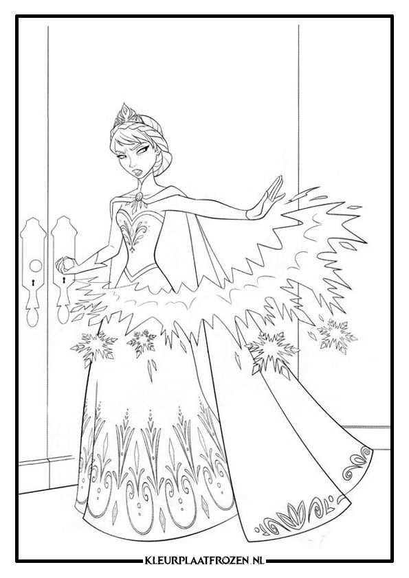 Elsa Kleurplaat Downloaden With Images Frozen Coloring Pages