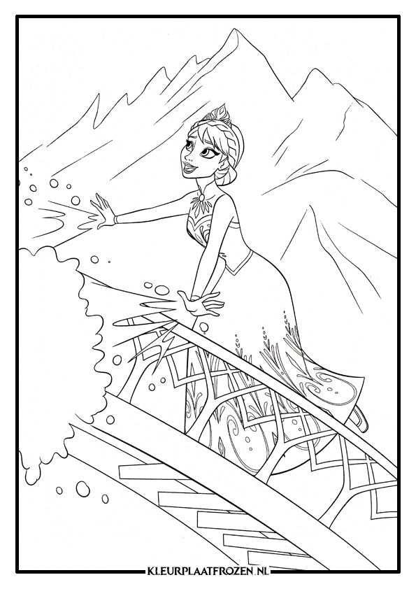 Elsa Kleurplaat Downloaden Kleurplaten Disney Kleurplaten