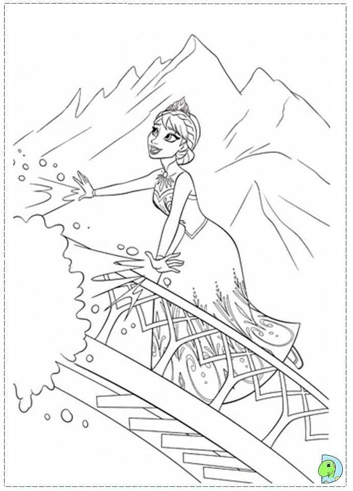 Elsa Let It Go Kleurplaten Disney Kleurplaten Frozen Kleurplaten