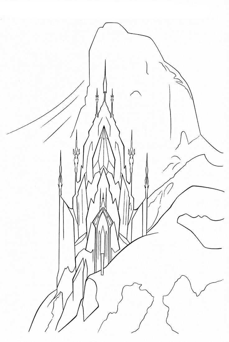 Elsa Castle Coloring Page Castle Coloring Page