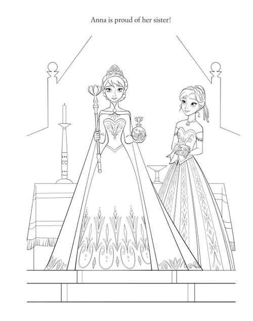 Official Frozen Illustration Elsa And Anna Met Afbeeldingen