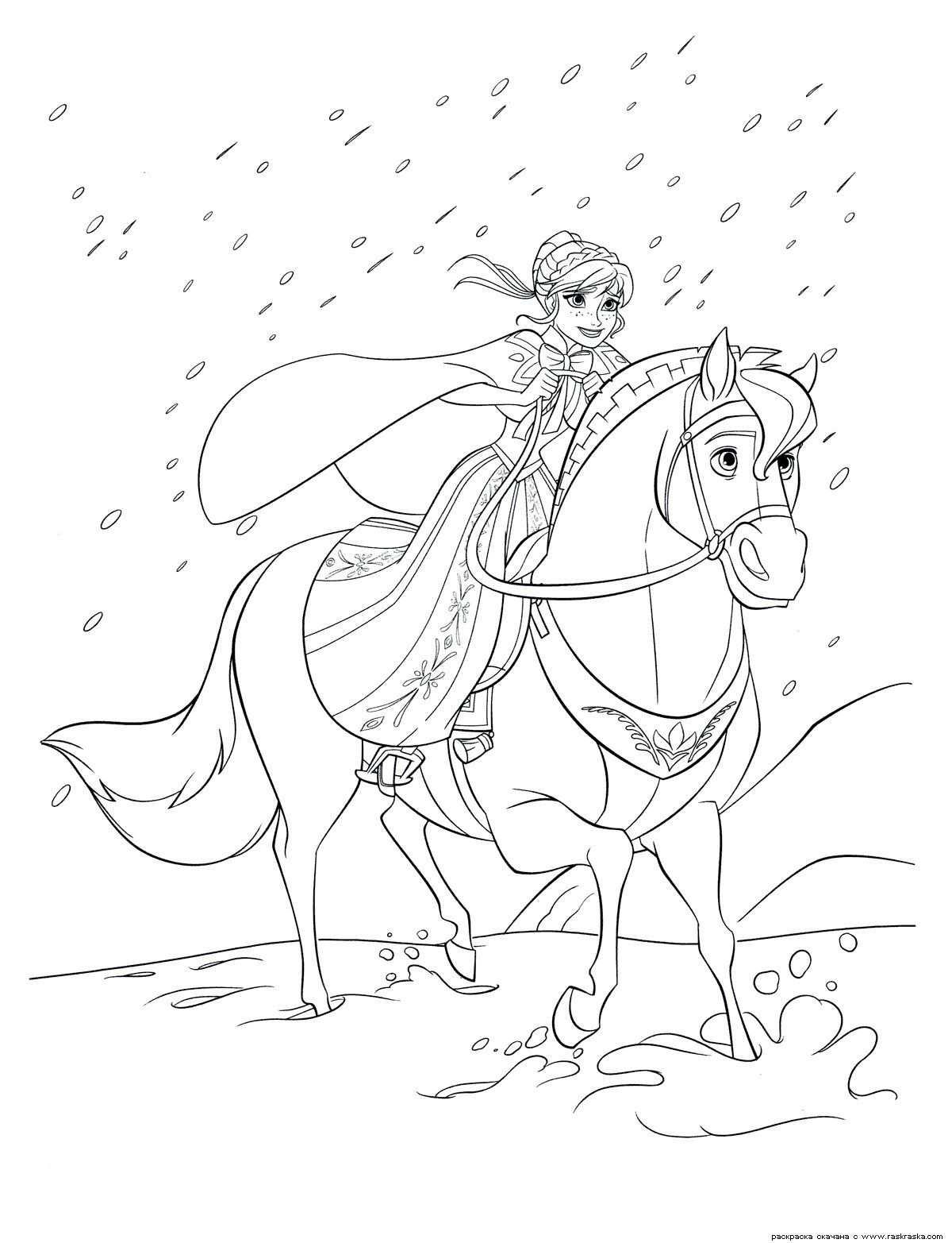 Pobarvanka Elsa In Ana Google Search Malvorlagen Pferde