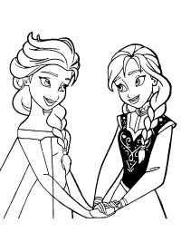 35 Kleurplaten Frozen 1 2 Gratis Printen Princess Coloring