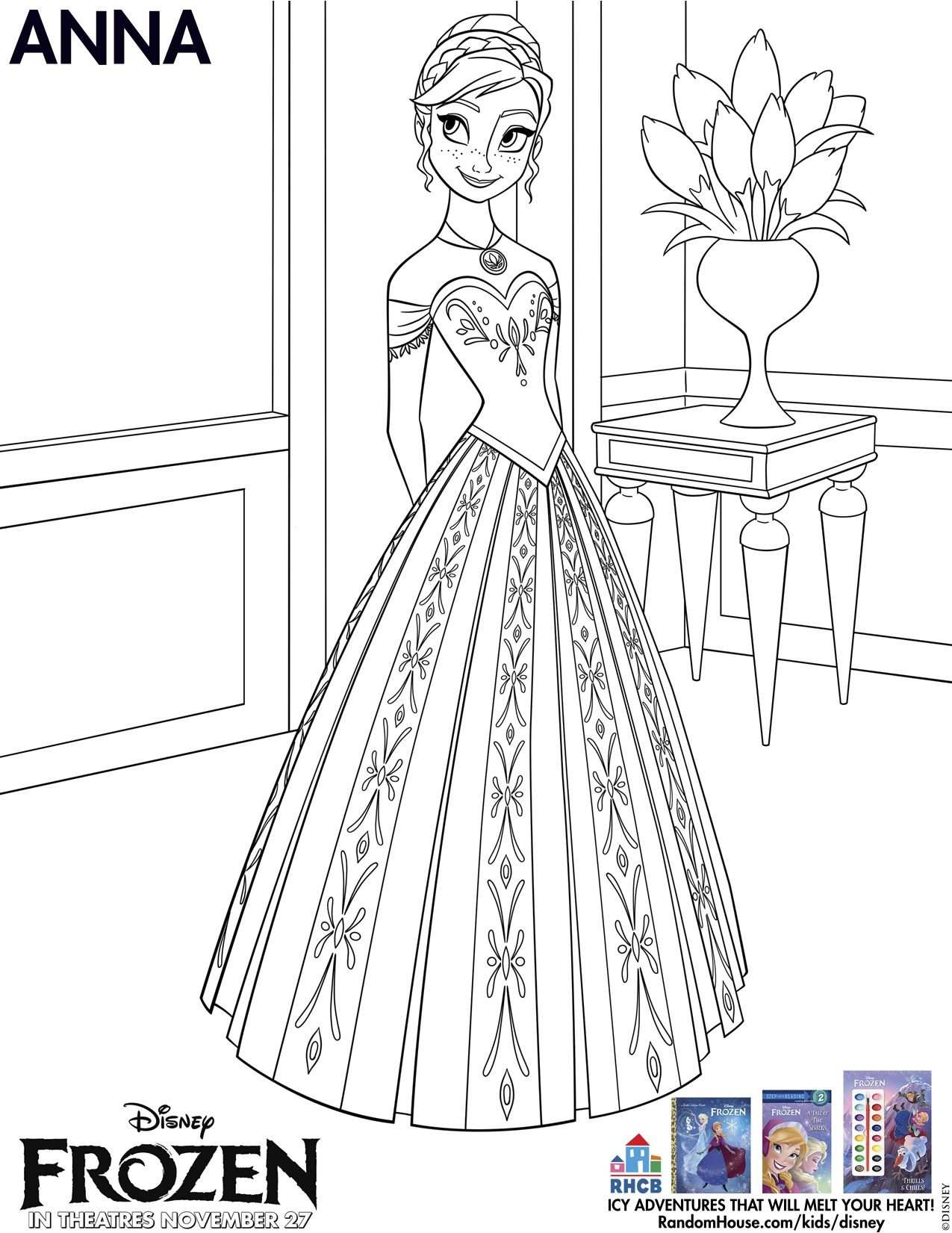 Disney S Frozen Coloring Pages And Printables For Kids