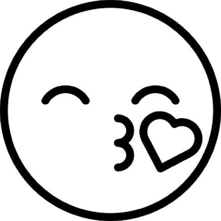 Kiss Emoji Coloring Pages Met Afbeeldingen Emoji Tekening