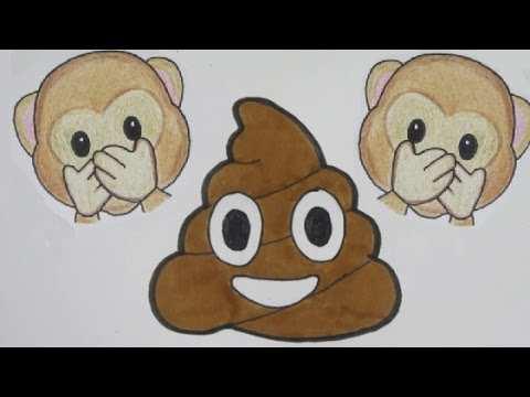 Aap Poep Emoji Leren Tekenen In Stappen Youtube