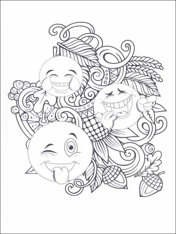 Emojis Emoticons Coloring Pages 10 Emoji Coloring Pages