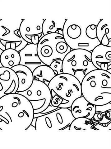 Kids N Fun 25 Kleurplaten Van Emoji Movie