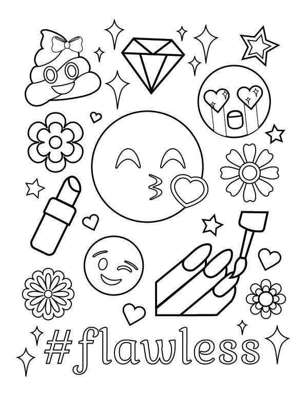 Kleurplaat Emoji Geld