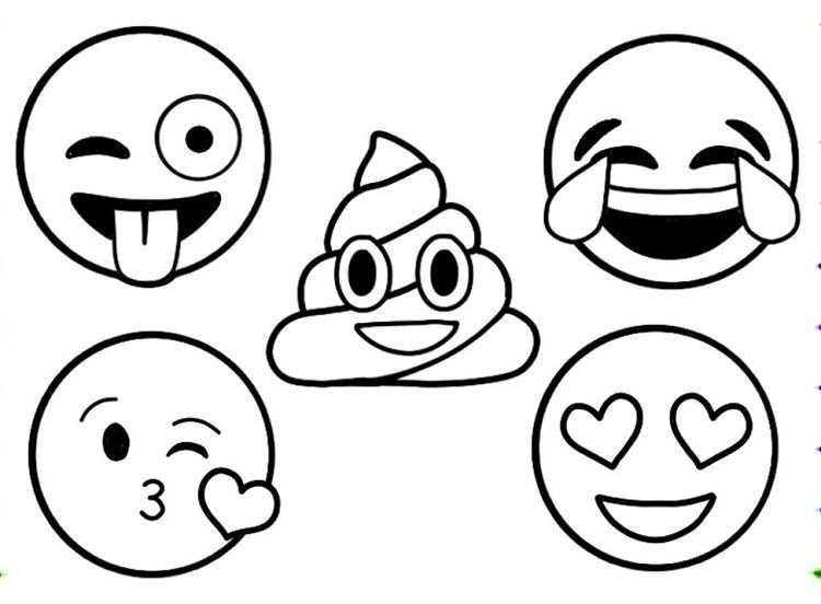 Emoji Coloring Pages To Print With Images Emoji Coloring Pages