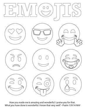 Emojis Bible Verse Coloring Page Free Emoji Tekening