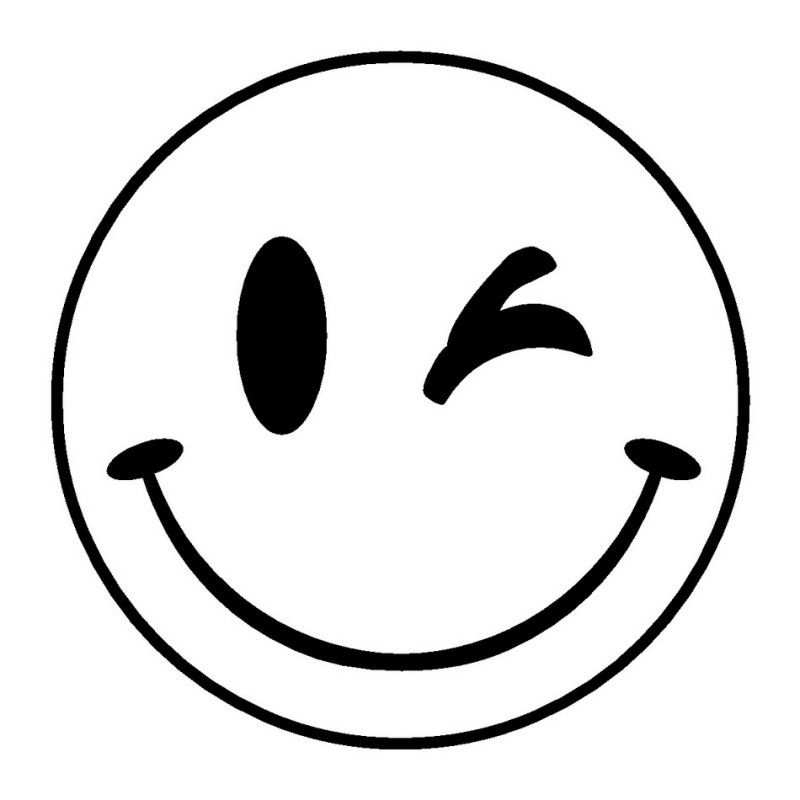 Smiley Emoji Tattoo Coloring Pages