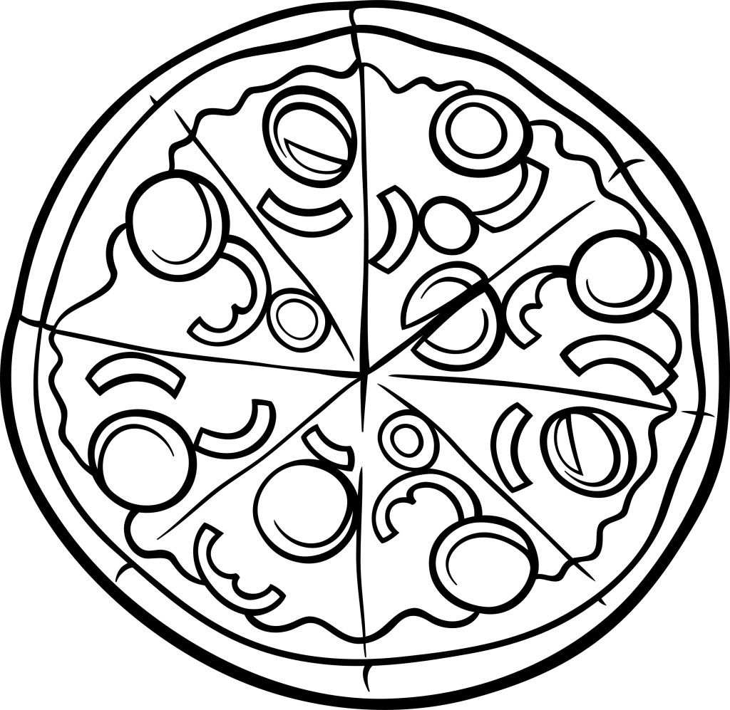 Pizza Coloring Page Printable Food Coloring Pages Pizza