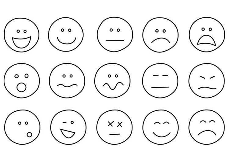 Kleurplaat Emoties Met Afbeeldingen Gevoelens Emoties