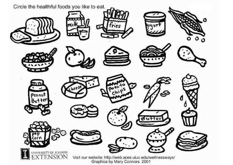 Kleurplaat Gezonde Voeding Werkblad Voeding Gezond Gezond Eten